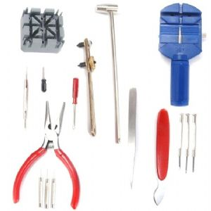 16 Piece Watch Repair Tool Kit (Plyers, Spring Bar Tool, Screwdrivers etc)